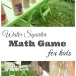 Water Squirter Math Game