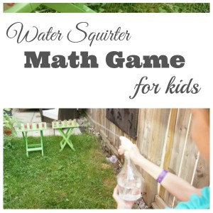 Water Squirter Math Game for Kids