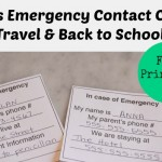 Kids Emergency Contact Card – Back to School & Travel