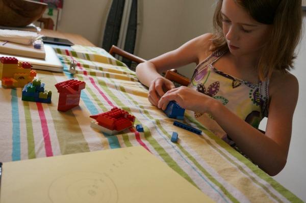 lego solar system kid building