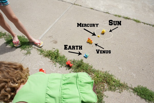 planets on driveway