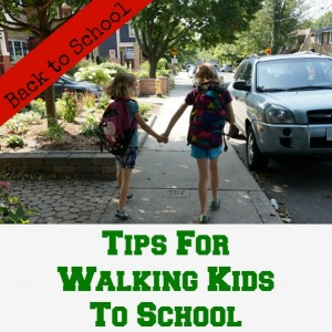 tips for walking kids to school