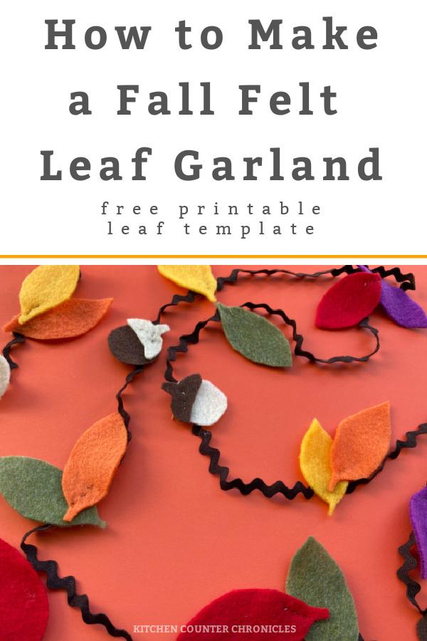 fall felt leaf garland feature image