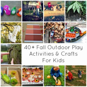 fall outdoor play activities and crafts