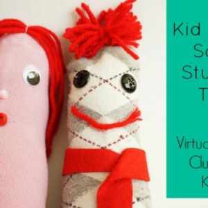 kid made sock stuffed toy