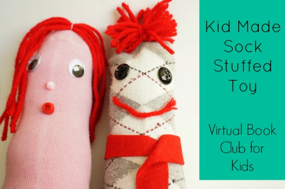 kid made sock stuffed toy