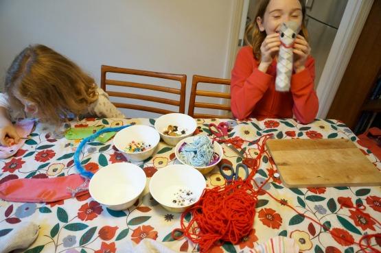 making sock stuffed toys