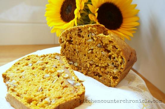 pumpkin pecan bread baked