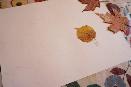 tracing leaves