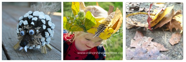 fall nature craft collage