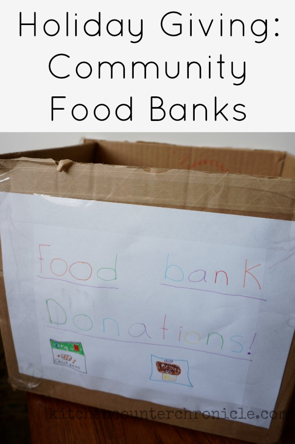 holiday giving community food banks