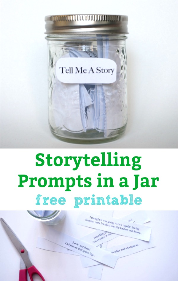 storytelling prompts in a jar - free printable