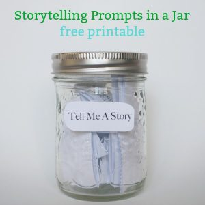 Storytelling Prompts in a Jar free printable social