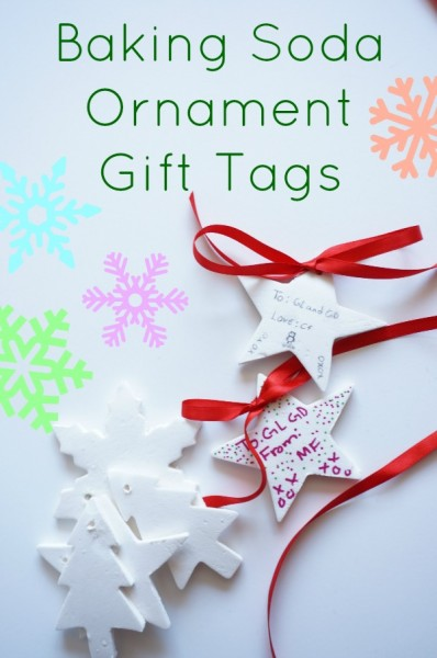 baking soda ornament gift tags