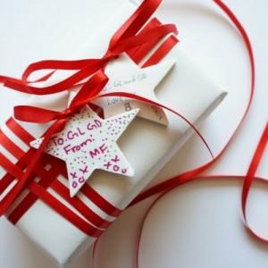 baking soda ornament gift tag