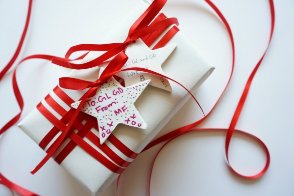 baking soda ornament gift tag