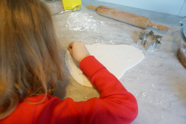 baking soda ornament with child