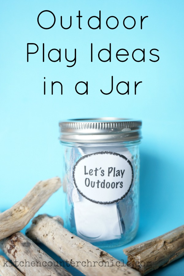 outdoor play ideas in a jar