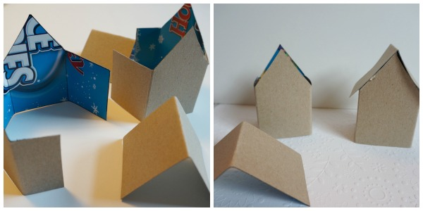 paper house folded and glued