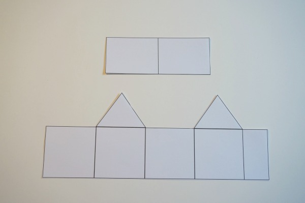 paper house ornament template cut out