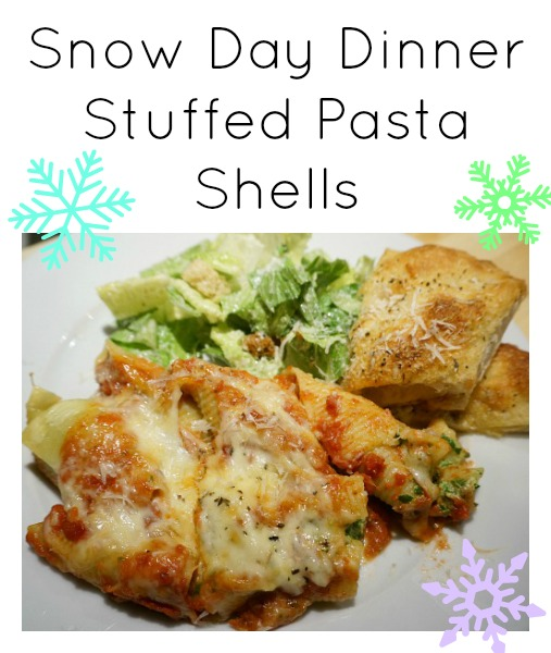 stuffed pasta shells with ricotta and spinach