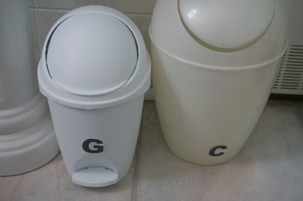 bathroom garbage cans