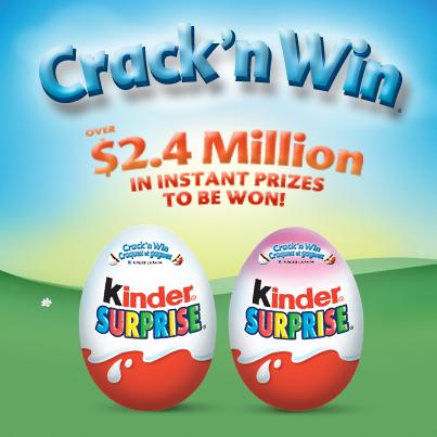 crack n' win Kinder image