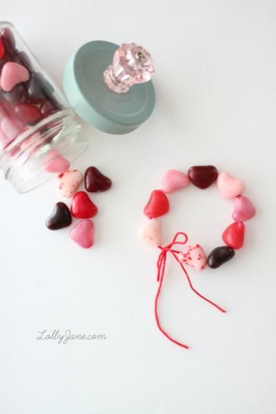 valentine candy bracelet