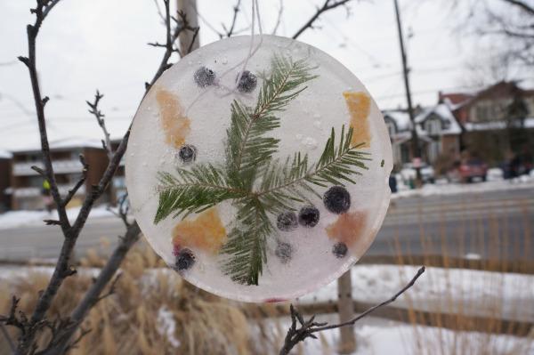 ice sculpture pine tree