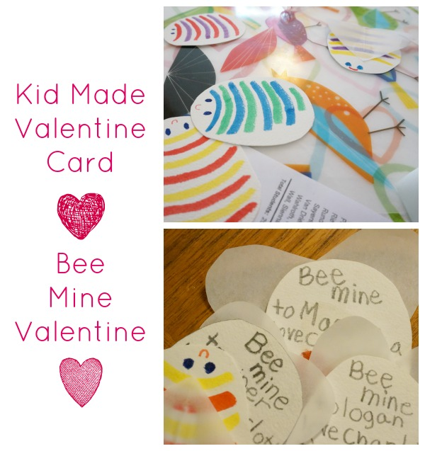 Kid Made Valentine Card Bee Mine – Bee Mine Valentine Card