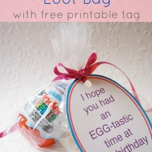 Kinder® birthday loot bag tag