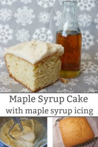 maple syrup cake and maple syrup icing recipe