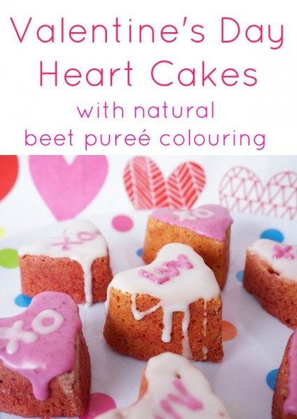 valentine day cake with beet puree
