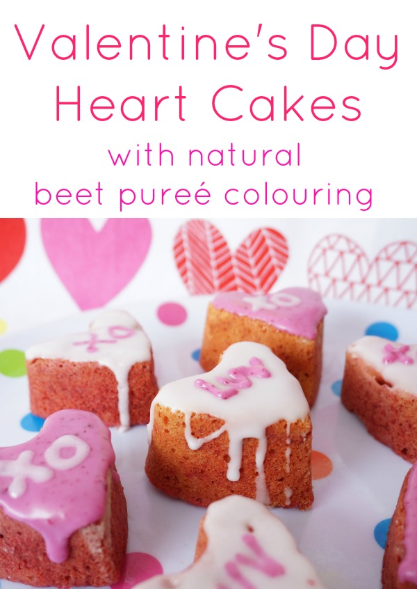valentines day cake with beet puree
