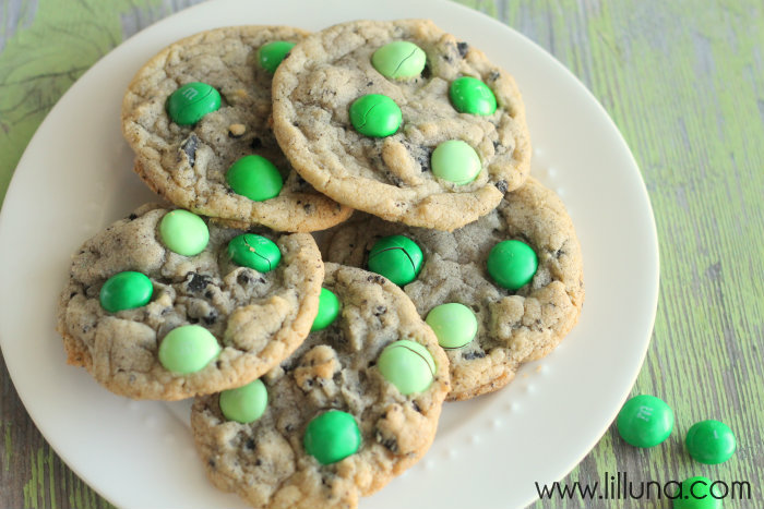 mint m&m oreo cookies