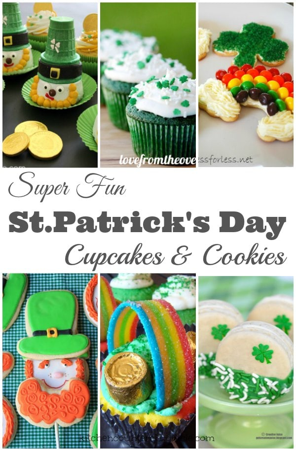Super Fun St Patrick's Day Cookies and Cupcakes