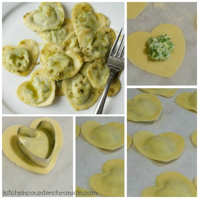 Heart Shaped Ravioli