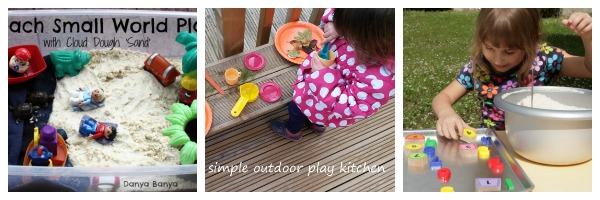 outdoor play collage