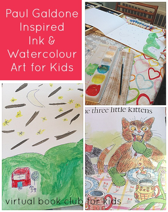 Paul Galdone Inspired Ink & Watercolour Art for Kids