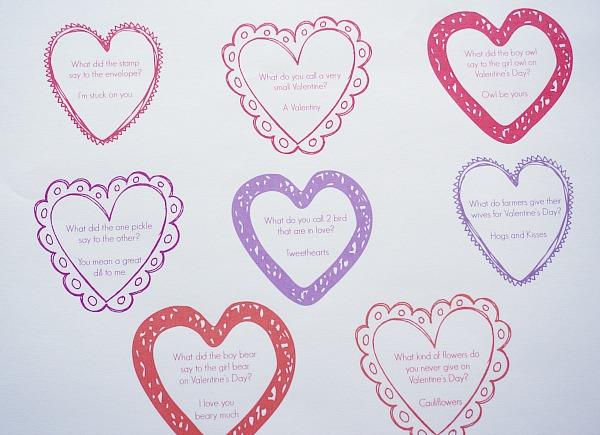 valentine jokes printable