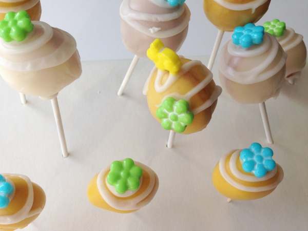 cake pop with bunny on top