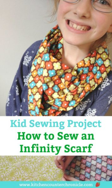 how to sew an infinity scarf sewing project for kids