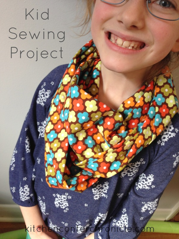 Kid Sewing Project : Spring Infinity Scarf