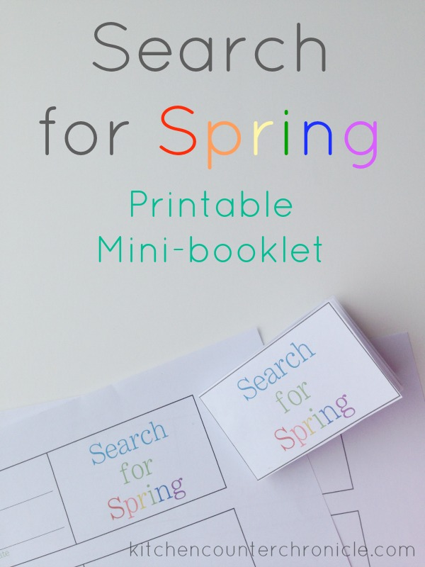 Search for Signs of Spring Printable Book
