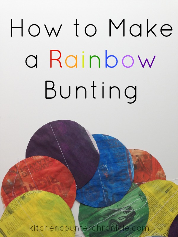 how to make rainbow bunting