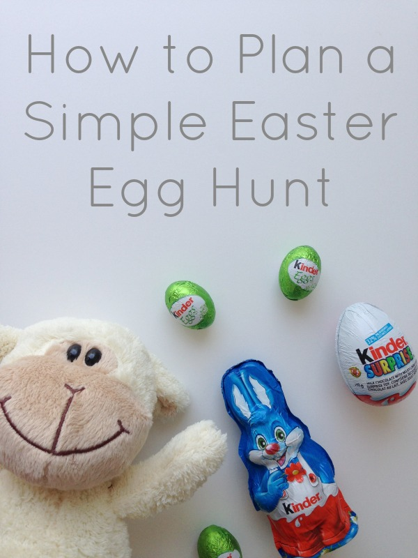 how to plan a simple easter egg hunt