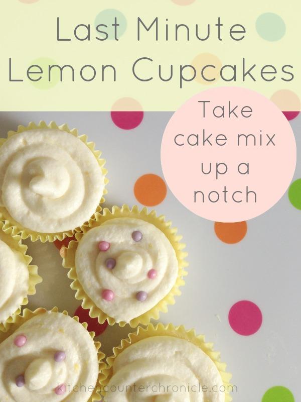 Last Minute Lemon Cupcakes