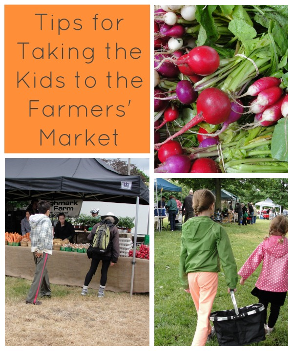 tips for taking the kids to the farmers' market