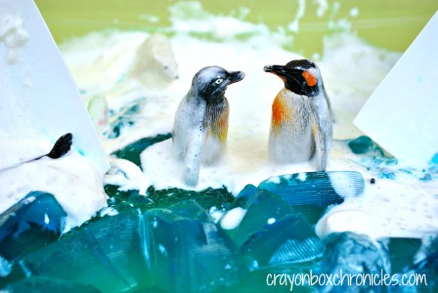 antarctic sensory bin