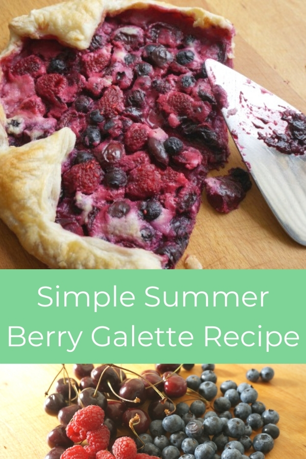 simple summer berry galette baked with title